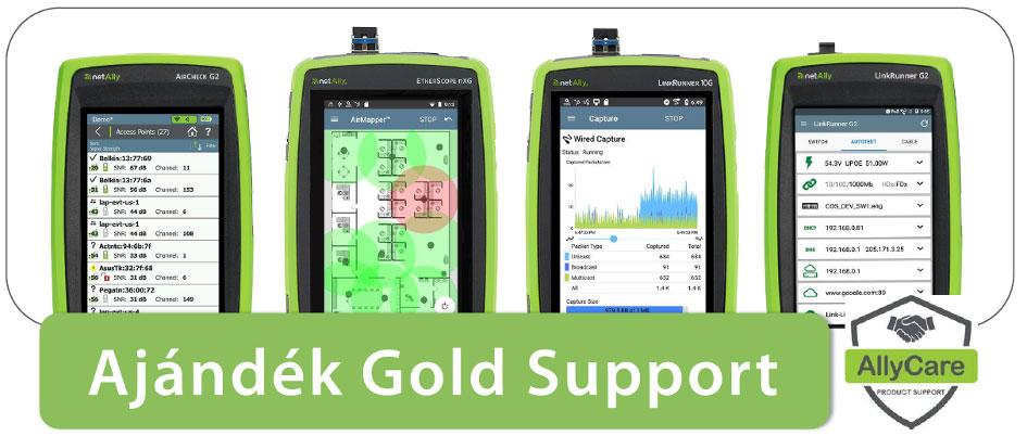 Ajándék Gold Support NetAlly műszert vásárlóknak!