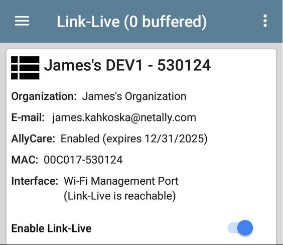 Link-Live status
