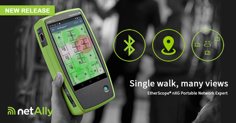 Megjelent a NetAlly EtherScope? nXG v1.5 firmware