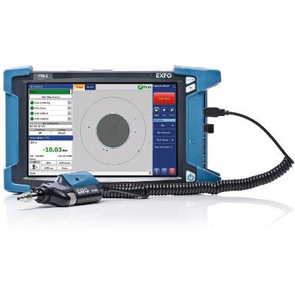 EXFO FIP-400B video mikroszkóp szonda és MAX-FIP LCD kijelző