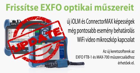 Új funkciók az EXFO MAX-700B és FTB-1 optikai műszerekhez