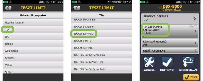 Modular Plug Terminated Link (MPTL) beállítása