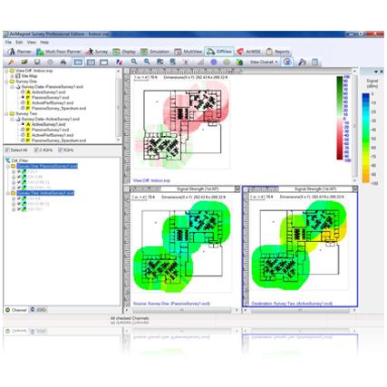 NETSCOUT AirMagnet Survey WiFi feltérképező szoftver