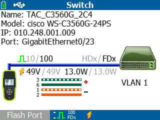 Switch és PoE információk