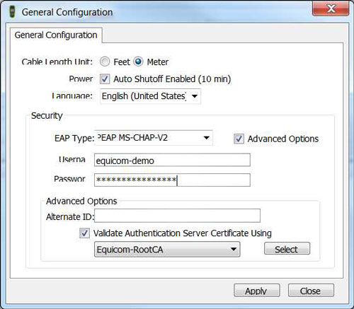 LinkRunnet AT Manager - IEEE 802.1x authentikáció konfigurálása